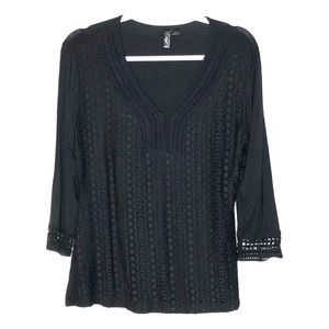 Ethyl Black Blouse Small